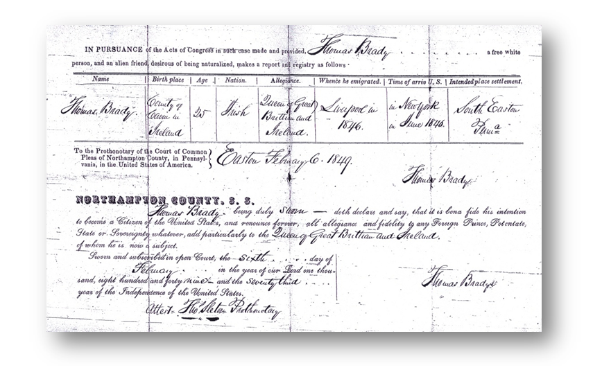 Waren County Naturalization Record